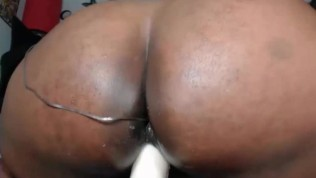 Big butt ebony masturbation