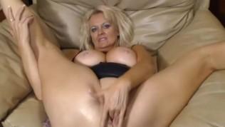 Nasty old slut teasing on webcam