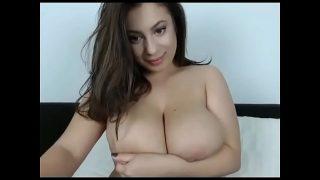 Super big boobs girlfriend on cam chat